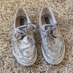 Aperry topsider sparkly shoes